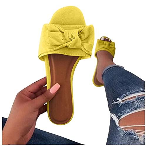 Sandali da donna, estivi, in pelle scamosciata, alla moda, sandali romani, sandali eleganti per il tempo libero, estivi