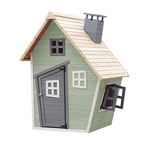 Outdoor Toys Casetta per Bambini in Legno Fantasy Verde 1,2 m² de 102x120x150 cm