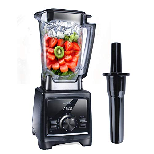 Standmixer Smoothie Maker, 2000W Ultra-leistungsstarker Smoothie Blender, Schleifer und Eis-Zerkleinerungsmaschine, Ice-Crusher, 32.000 U/min, 2L Tritan-Behälter BPA-frei [Energieklasse A+++] YAKEEP