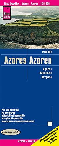Reise Know-How Landkarte Azoren (1:70.000): world mapping project: reiß- und wasserfest (world mapping project)
