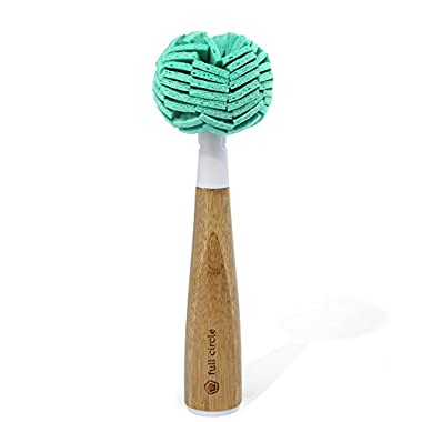 Full Circle Crystal Clear 2.0 Replaceable Glassware & Dish Cleaning Sponge with Bamboo Handle