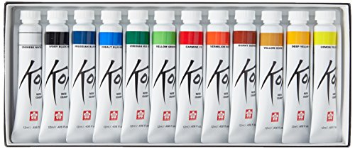 Koi Watercolor Paints 12ml 12/Pkg-Assorted Colors