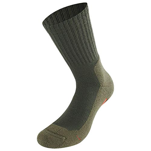 Lenz Unisex Trekking 5.0 Outdoor Strümpfe 2er Pack Herren Damen Wandern Running Socken Merino, 062, Farbe Grün, Größe 39 - 41