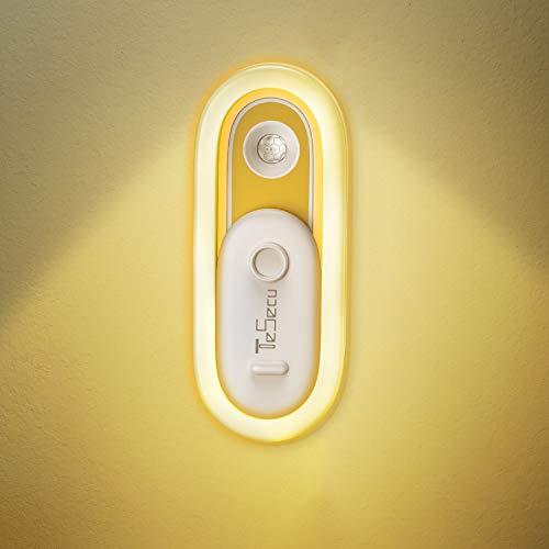 Luce Notturna LED, Tesecu Luci Armadio con Sensore Movimento USB Ricaricabile Luce Notte con Striscia Magnetica per Cameretta dei Bambini, Scale, Camera da Letto, Corridoio, Cucina (Bianco Caldo)