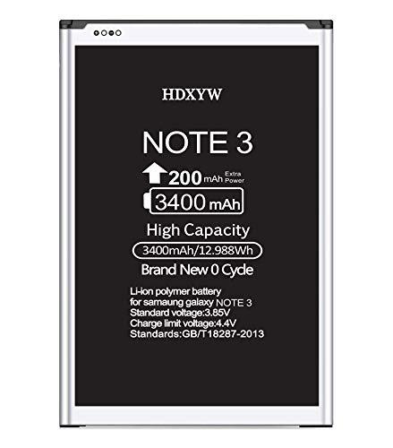 HDXYW für Samsung Galaxy Note 3 Ersatz Akku,hohe Kapazität 3400mah Verbesserte Handy-Akku Ersatz Hochleistungsakku Funktioniert mit Note 3