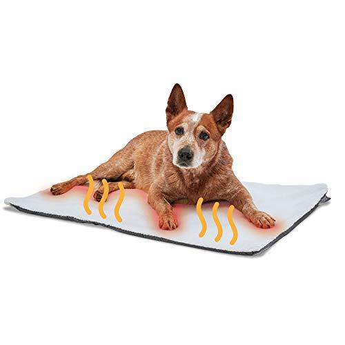 PiuPet® Manta térmica para Perros, Autocalentado - sin Electricidad y baterías, Cojín de Calor, Innovador e ecológico (90x60cm, para Perros)