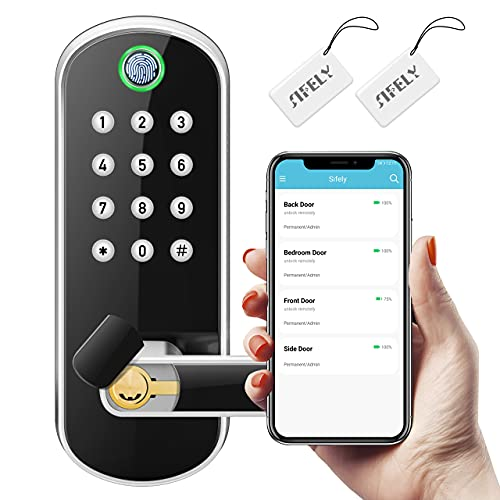 Sifely Keyless Entry Door Lock, Keypad Door Lock, Keyless Door Lock, Fingerprint Door Lock, Biometric Door Lock, Keypad Entry Door Lock, Passcode Code Door Lock, Digital Smart Door Lock (Smart Lock)