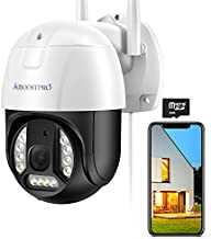 Security Camera Outdoor, AIBOOSTPRO 2K ProHD 3MP Pan Tilt Zoom 2.4G WiFi Home Smart Surveillance Camera Two-Way Audio PTZ Motion Detection Auto Tracking Waterproof Cloud Camera Built-in 32Gb Card