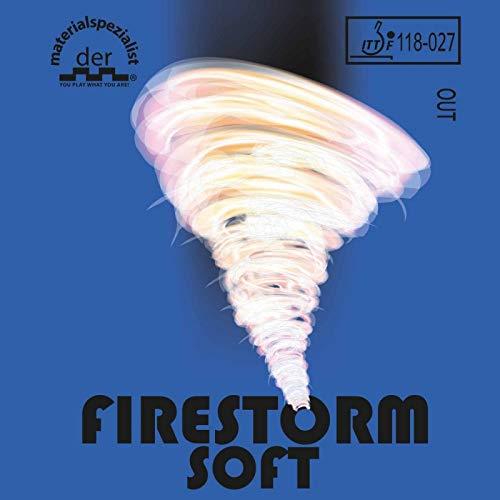DER MATERIALSPEZIALIST Belag Firestorm Soft (Kurznoppe) Optionen 2,1 mm, rot