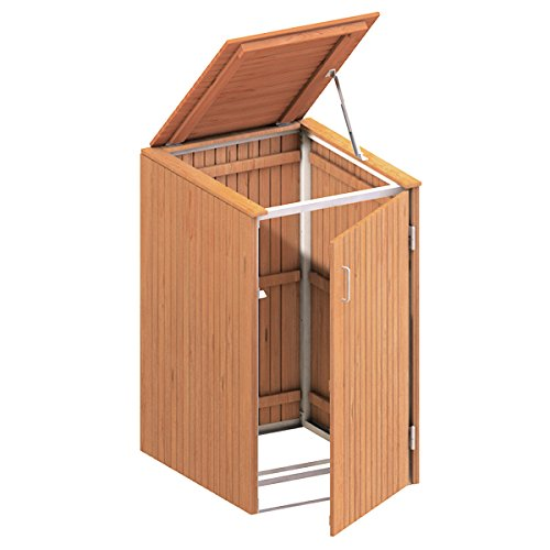 BINTO Mülltonnenbox Hartholz, Müllbox System 14