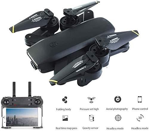 Cámara aviones no tripulados, aviones no tripulados RC con Wifi de la cámara 4K Quadcopter 22Mins Tiempo de vuelo Gesto de control plegable cámaras duales, se puede utilizar como un regalo for su hijo