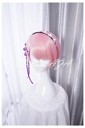 COSPLAZA Perücken Cosplay Wig Re:Zero kara Hajimeru Isekai Seikatsu Ram kurz Pink Anime Haar
