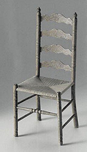 Dollhouse Miniature Chrysnbon Ladder-Back Chair Mini-kit