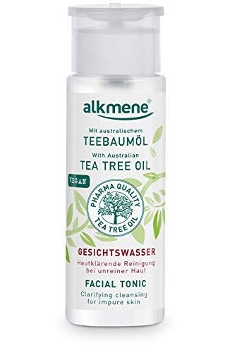 alkmene Teebaumöl Gesichtswasser für unreine Haut - Anti Pickel, Hautunreinheiten & Rötungen - vegane Gesichtsreinigung ohne Silikone, Parabene & Mineralöl (1x 150 ml)