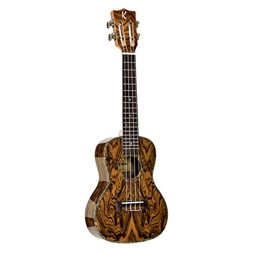 MTSBW 24 Zoll Ukulele, natürliche Textur 4-String Hawaii-Gitarre, Mahagoni, E-Bass-Ukulele Gitarre Instrument, Geeignet für Musikfreunde