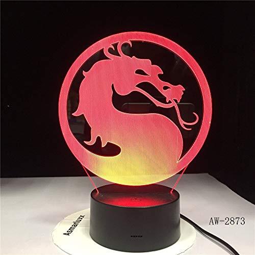 jiushixw 3D acryl nachtlampje met afstandsbediening van kleur veranderende lamp laarzen kinderen Engels nacht Wrath Traditionele grote tafellamp