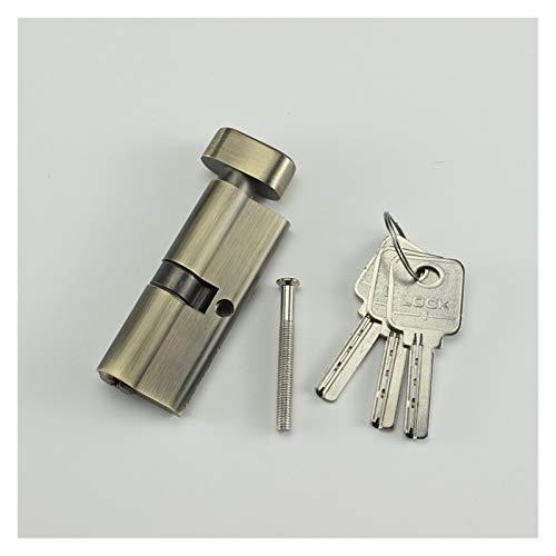 Anti-Pick Door Lock Copper/brass Door Lock Cylinder For Indoor Bedroom Cyan Color 70x29mm With3 Keys Handle Lock Accessories Lock Cylinder (Color : Small 70)