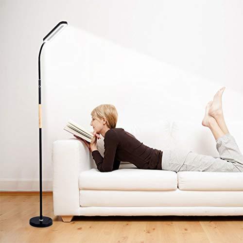 Vast 319 Moderne led-vloerlamp, zwart smeedijzer, verticale stijl, voor woonkamer, slaapkamer, kantoor, lounge, energiebesparende vloerlamp