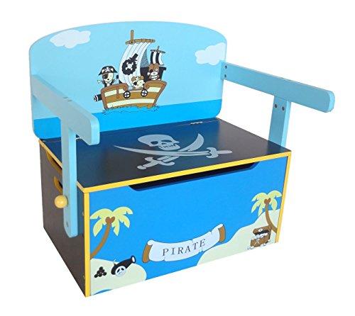 Kiddi Style Caja Almacenaje Juguetes + Banco y Mesa + Silla – Diseño...