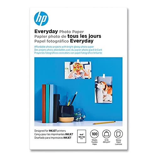 HP Glossy 4x6 Papier Photo Quotidien - 100 Feuilles