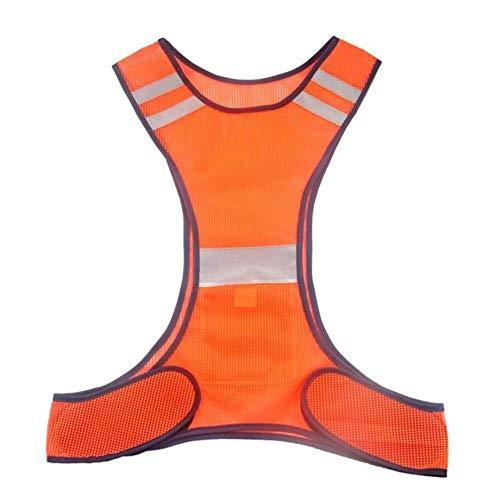 Vest Reflecterende Veiligheid Reflecterende Vest Een Grootte Verstelbare Veiligheid Hoge Zichtbaarheid Doeken Nacht Hardlopen Veiligheid Jas China Oranje Rood