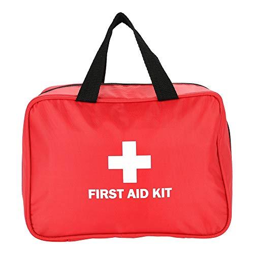 Bolsa de primeros auxilios, botiquín de primeros auxilios al aire libre, hogar, viajes al aire libre, caja de almacenamiento médico, estuche de primeros auxilios, emergencia, rojo