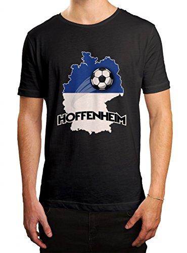 Hoffenheim #2 Premium T-Shirt | Fussball | Fan-Trikot | #jeden-verdammten-Samstag | Herren | Shirt, Farbe:Schwarz (Deep Black L190);Größe:S