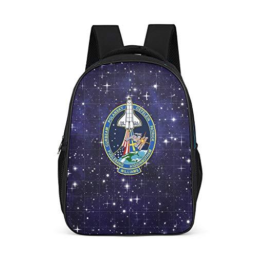 XJJ88 NASA Spacecraft Mochilas Fashion College Bags – Espacio para niños, color Gris...