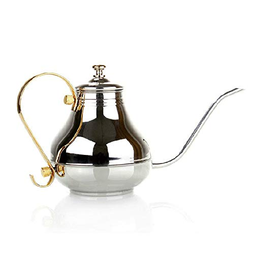 LYGACX Hervidor de Cuello de Cisne, hervidor de Goteo de Acero Inoxidable, 1.5L, hervidor de Agua de Acero Inoxidable, para Las Personas Que aman la Vida y aman el cafe