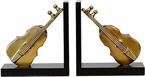 LQ Boek eindigt metalen boek einde boekensteunen decor creatieve viool boek eindigt ondersteunt voor plank, boekendierhouder voor thuis kantoor decoratieve geschenken stopperboek map