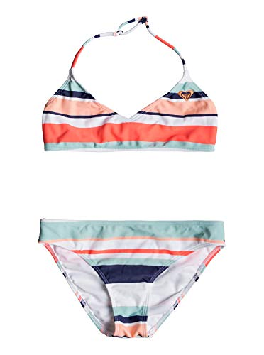 Roxy Mädchen Happy Spring Two Piece Bikini, Bright White on My Way Swim, 8