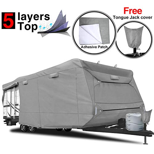 RVMasking 5-ply Top Travel Trailer RV Cover, Fits 28'7' -...