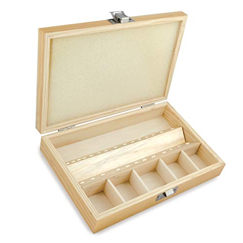 Wood Storage Case For Rotary Tool Bits And Accessories