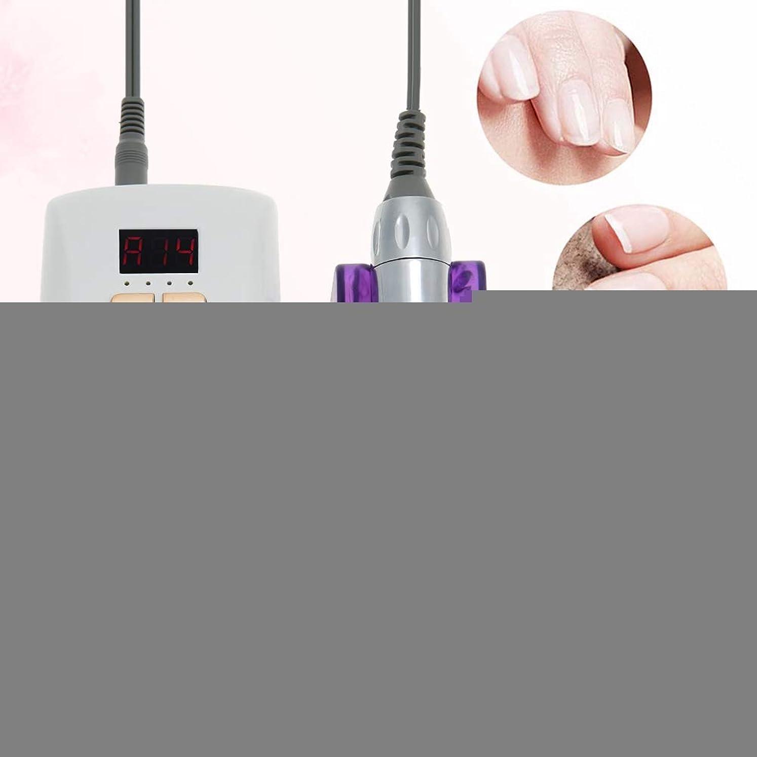 信条に応じてマーガレットミッチェル30000 rpmネイルファイルドリル機、電動ポータブル充電式マニキュアペディキュア研磨ツールキット用バッファーと滑らかな爪(私たちはプラグ)