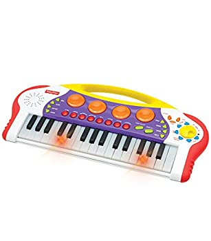 Fisher-Price – Teaching Keys Keyboard Music Keyboard/Piano Record and Playback Learn to Play Piano Toddler Ages 3+