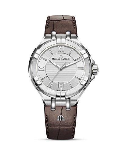 Maurice Lacroix Damen Analog Quarz Uhr mit Leder Armband AI1006-SS001-130-1