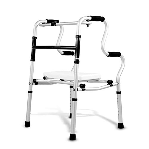 LYP Rollator Rollator Leichtklapp WC Geländer Bad Stuhl Rollator Walker mit gepolstertem Sitz eingeschränkter Mobilität Hilfe