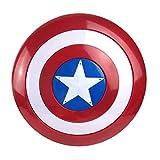 Getrichar Escudo del Capitán América Versión de luz y Sonido Espesado Accesorios de Cosplay 75 Aniversario Halloween Niño Juego de Roles Juguete Superhéroe Disfraz Traje