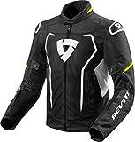 FJT243 - 1450-M - Rev It Vertex Air Motorcycle Jacket M Black Neon Yellow