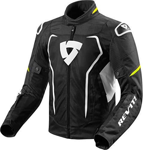 Chaqueta DE Verano para Hombre REVIT Vertex Air Black-Yellow Neon Size XL