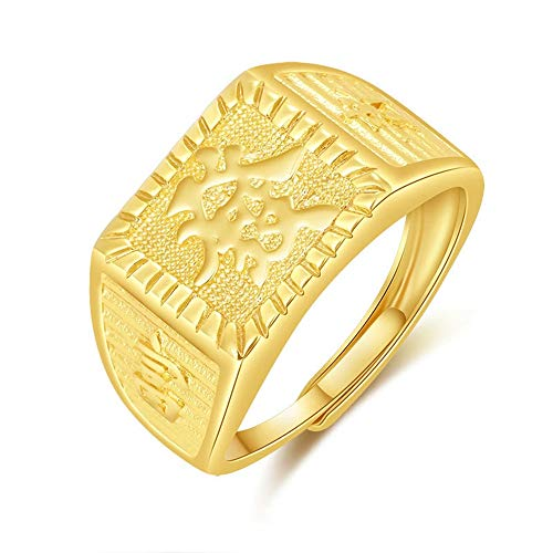 Keai open ring voor heren, 24 karaats goud, sieraden gesneden haarring