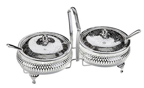Queen Anne Zuccheriera in argento placcato telaio con finitura resistente all' ossidazione che non necessita di lucidatura