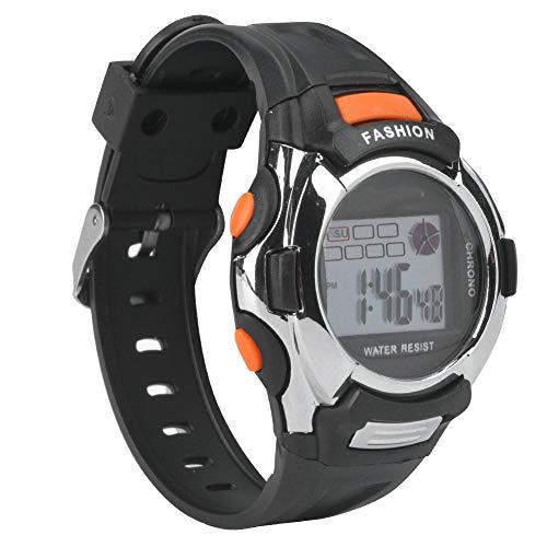Kinder Sportuhr, Multifunktion elektronische Watch Leuchtende Digitale Kinder Sportuhr LED wasserdichte Digitale Sportuhr (Schwarz)