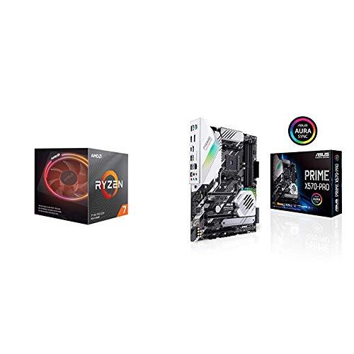 Pack gráfica ASUS y Procesador AMD: Ryzen 7 3700X y Prime X570-PRO