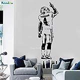 woyaofal American Football Player Wandaufkleber Abziehbilder Sport Dekoration Personalisierte Name Und Nummer Für Jungen Zimmer Abnehmbare 80x225 cm