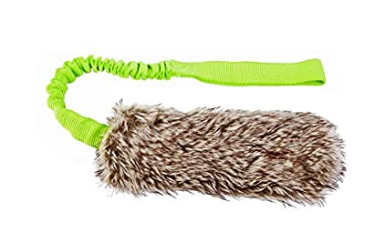 Dingo Waldemar Rutkowski Fleece Dog Toy for Twitch and Tug, Dog Training, Agility, Artificial Fur Bungee Racer with Squeak 15584