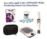 Smart Care blood glucose meter, 10 Smart Care Test Strips, 10 Lancets, Lancing