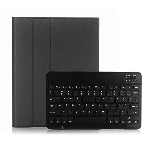 Substituição da capa protetora da caixa do teclado sem fio BT3.0 para iPad Pro 10.5 / iPad Air3 10.5 / iPad 10.2 (2019) (preto-preto)
