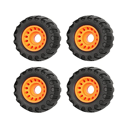 Colcolo 4 Piezas PU Ruedas de Monopatín 76x45mm Off Road Longboard Roller Skate Wheel Parts