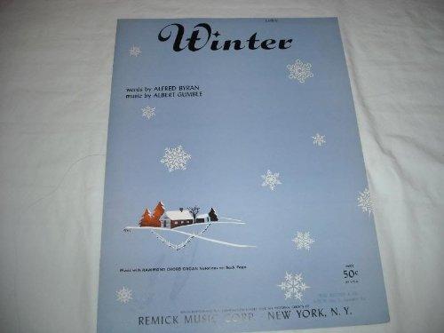 WINTER ALFRED BRYAN 1952 SHEET MUSIC SHEET MUSIC...